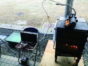 薪ストーブ発電と給湯も可能な多機能薪ストーブ「なんたん暖炉」